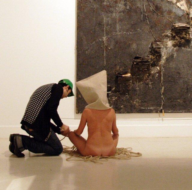 Marc Montijano realiza su tercera obra en el CAC Málaga