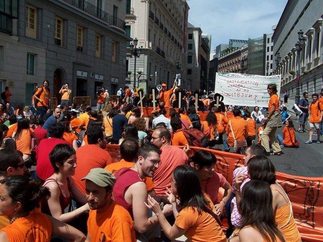 Una de las protestas de los alumnos