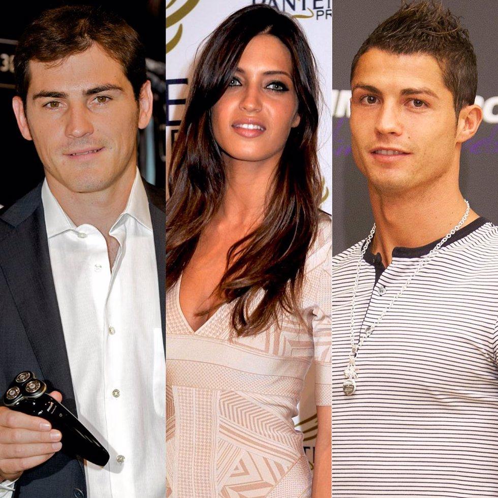 Iker Casillas, Sara Carbonero y Cristiano Ronaldo