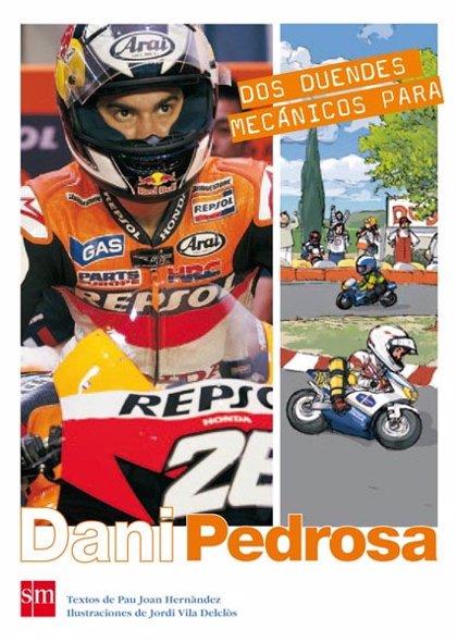 Dani Pedrosa presenta en Barcelona el libro sobre su historia 'Dos duendes mecánicos para Dani Pedrosa'