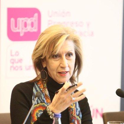 """Rosa Díez augura que la reforma de las pensiones se hará """"mal"""" y porque falta """"liderazgo y claridad"""" en el Gobierno"""