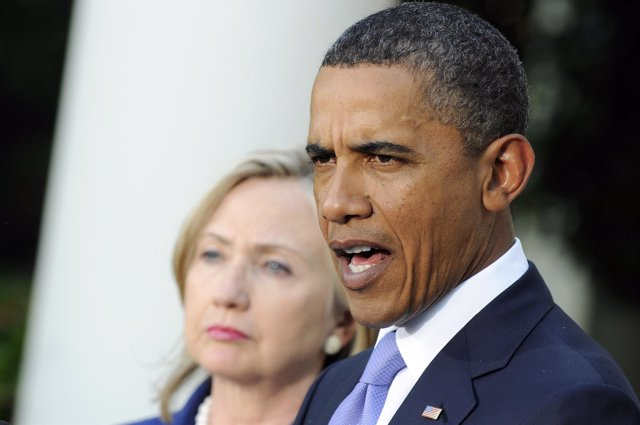 Barack Obama con Hillary Clinton