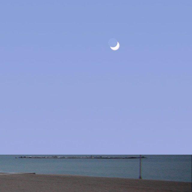 Simulación del punto máximo del eclipse
