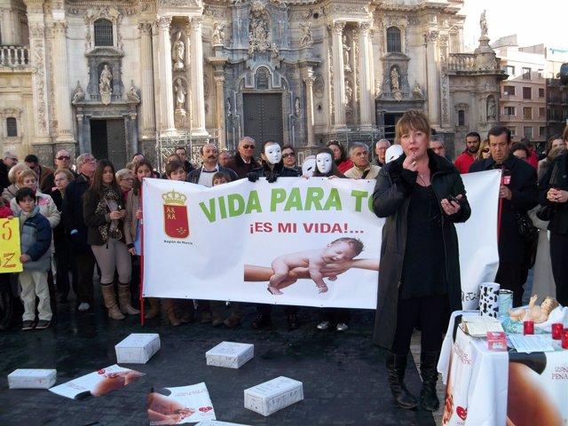 Concentración en Murcia contra el aborto