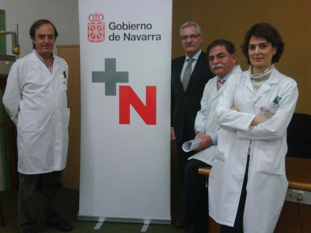 José Ramos, Fernando Boneta, Enrique Maraví e Isabel Jiménez.