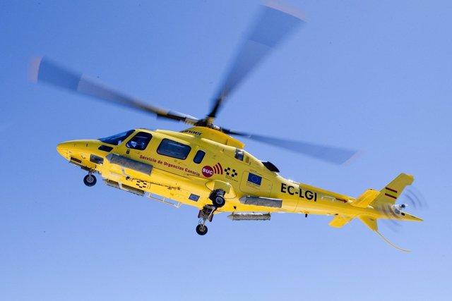 Helicóptero medicalizado del Servicio de Urgencias Canario (SUC)