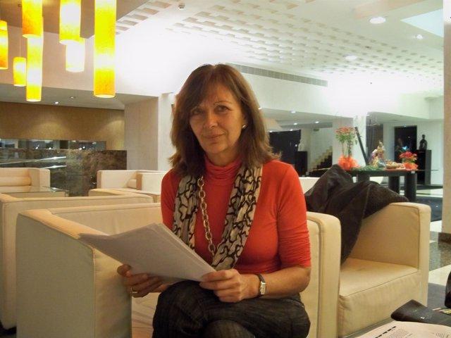 La presidenta de la Asociación de Editores de Andalucía, María Luisa Amores