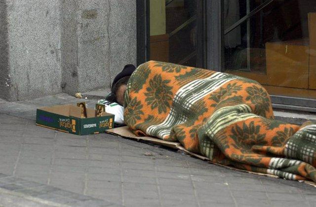 Imagen de un mendigo.