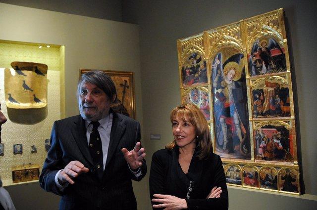 Eduard Mira y Trini Miró en 'Joanot Martorell i la tardor de la cavalleria'