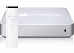 Fotomontaje de la posible consola de Apple.