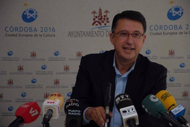 El primer teniente de alcalde y delegado de Cultura del Ayuntamiento de Córdoba,