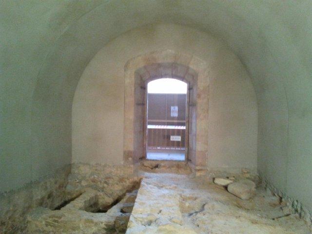 Restos arqueológicos del Catillo de Montjuic