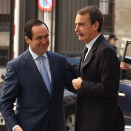 presidente del Gobierno, José Luis Rodríguez Zapatero, con el presidente del Con