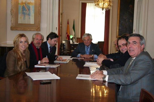 Los mayoristas con Francisco Herrero.