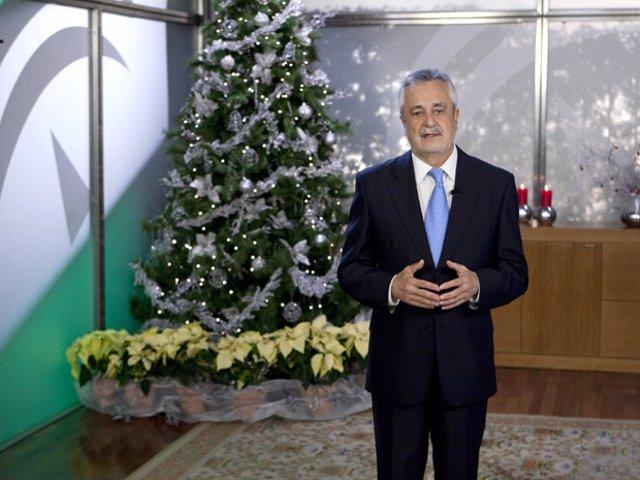 El presidente de la Junta, José Antonio Griñán, pronuncia el tradicional discurs