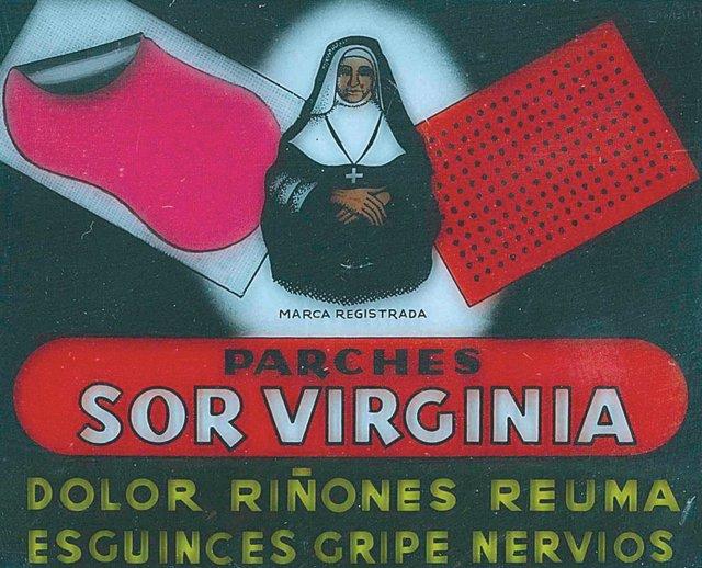 Parches Sor Virginia original, medicamentos vintage, remedios de la abuela