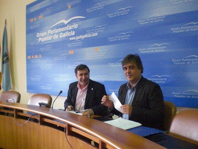 Manuel Ruíz Rivas y Pedro Puy, portavoz y viceportavoz del Grupo Parlamentario d