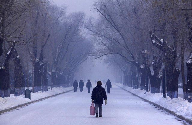 Ola de frío en China