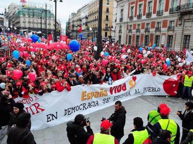 Manifestación contra la Ley del Aborto
