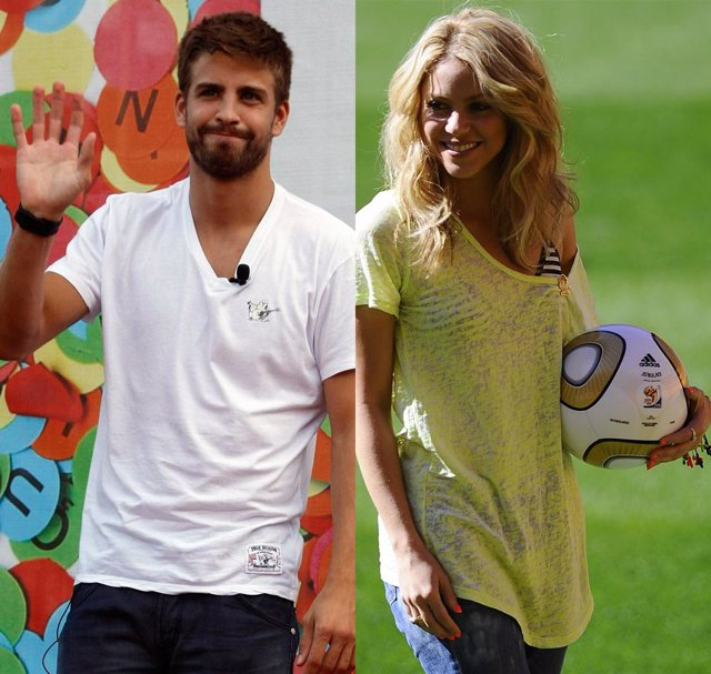 Montaje del futbolista Piqué y la cantante Shakira