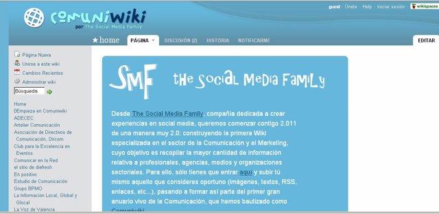 Captura de la nueva red social vertical 'Comuniwiki'.