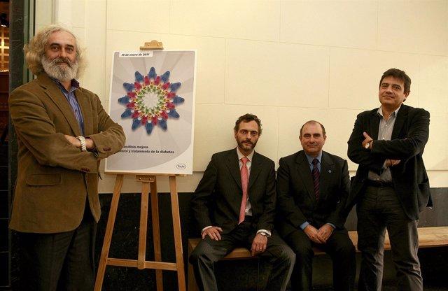 De Izd. a dcha.:  Alfonso Calle Pascual, Michele Pedrocchi, director de Roche Di