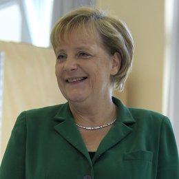 Primer plano de Angela Merkel