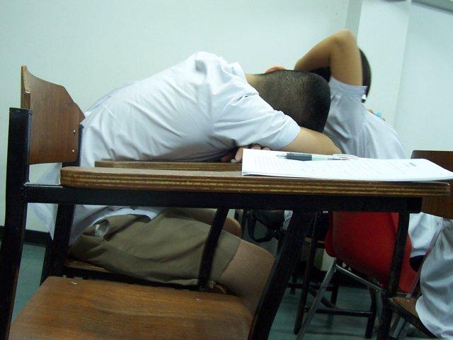 dormir, sueño, niño, colegio, pupitre, recurso