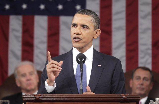 presidente de Estados Unidos, Barack Obama, en el discurso sobre el Estado de la