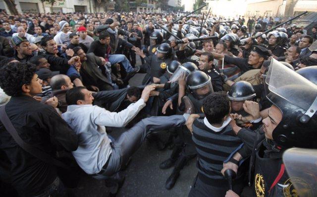 Manifestaciones en el Cairo