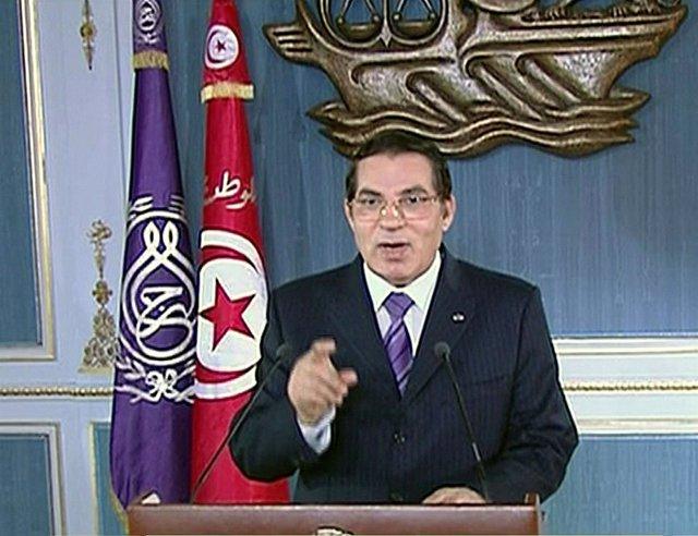 El presidente de Túnez Ben Alí