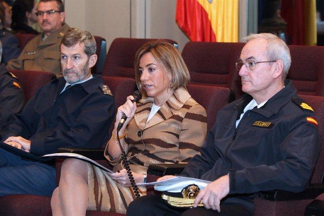 Chacón, videoconferencia con Afganistán