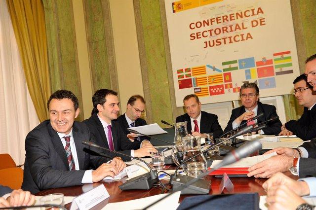 MADRID, Spain (25/01/11). Conferencia Sectorial de Justicia. Raul Perez