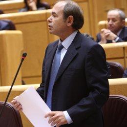 Pío García Escudero interpela a Zapatero en el Senado