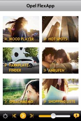 Imagen de las aplicaciones Opel para iPhone