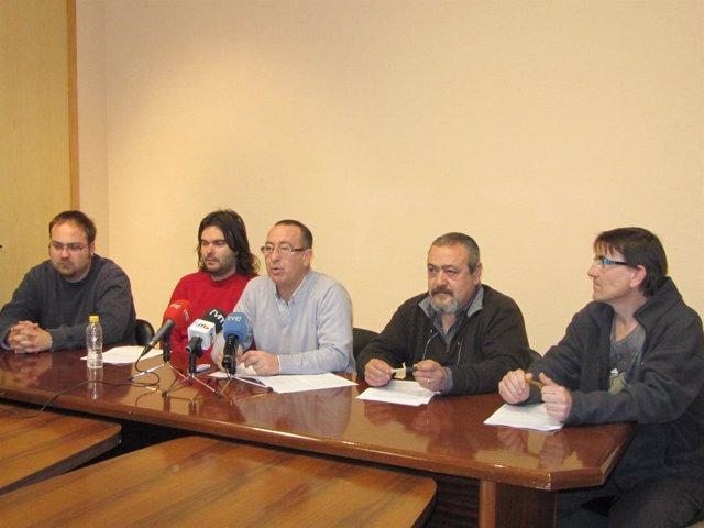 Los representantes, en rueda de prensa