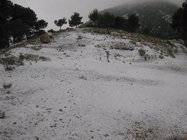 Nieve Paraje Sierra Espuña