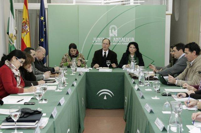 El consejero José Juan Díaz Trillo en el Consejo Andaluz de Medio Ambiente