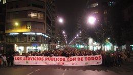 Séptima manifestación de los sindicatos por Ley recortes Gobierno regional