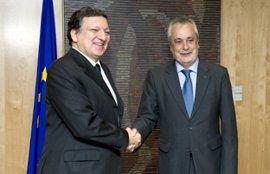 """Griñán destaca """"gran coincidencia"""" con Durao Barroso sobre un presupuesto suficiente de la UE para PAC y cohesión"""