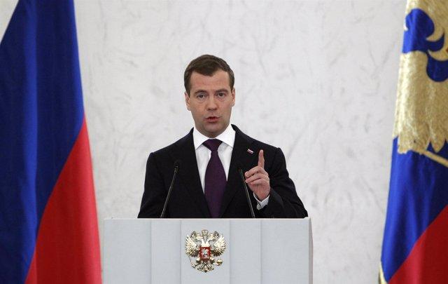 El presidente de Rusia, Dimitri Medvedev