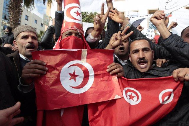 Protestas en Túnez