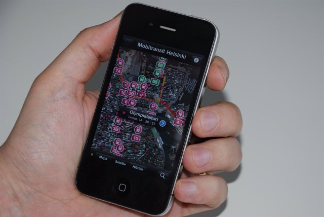 Aplicación para ver el transporte público