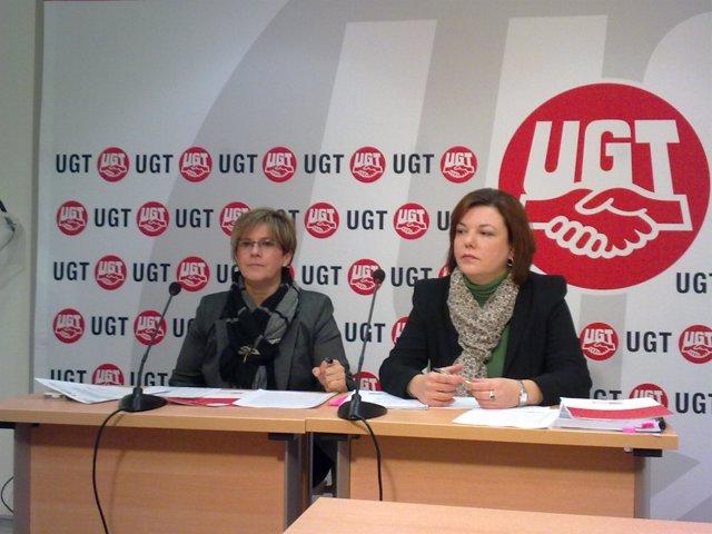 Carmen Campoy y Alba Oñoro, UGT