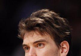"""Baloncesto/NBA.- Marc Gasol, """"tranquilo"""": """"No pienso ahora mismo en mi futuro"""""""