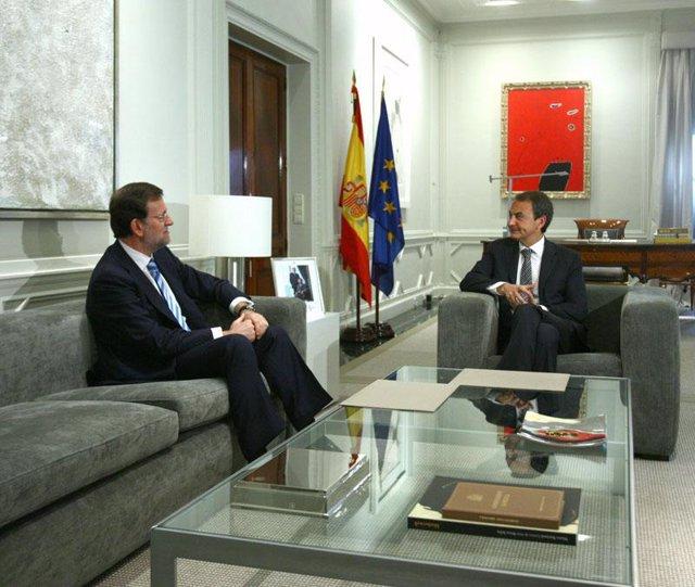 Zapatero Y Rajoy En Moncloa