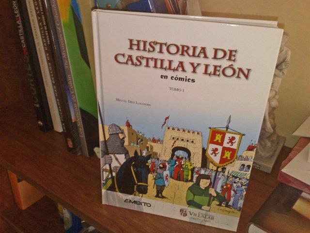 Primer tomo del cómic Historia de Castilla y León.