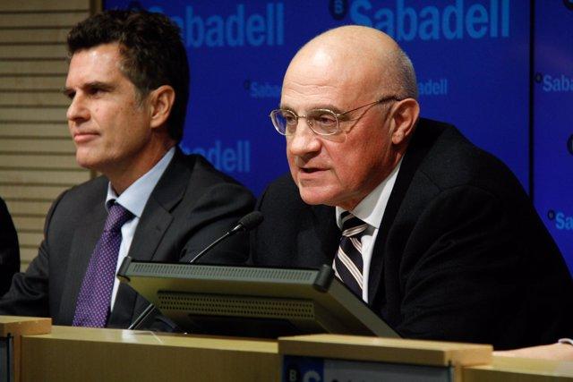 Fotografias De La Rueda De Prensa De Resultados De Banco Sabadell