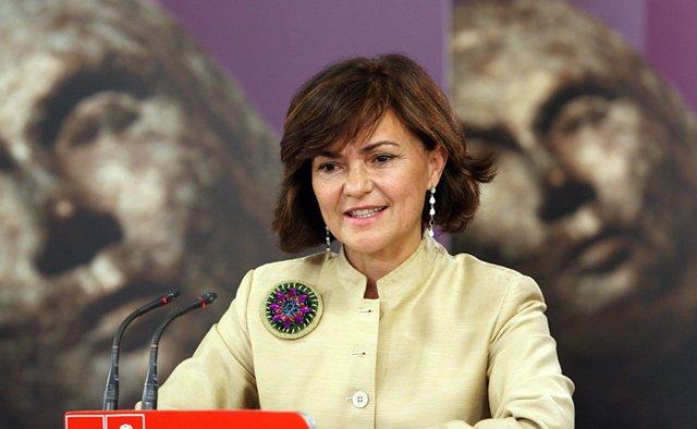 Carmen Calvo, presidenta Comisión Igualdad del Congreso