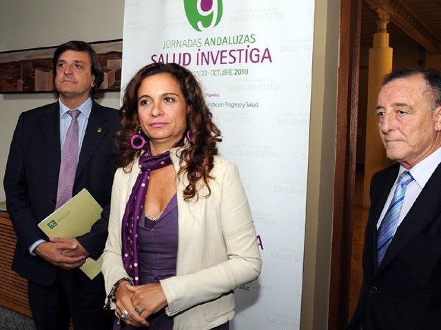María Jesús Montero, antes de participar en unas jornadas